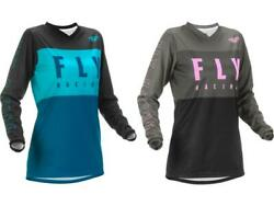 Fly Racing Womenand039s F-16 Jersey Adult And Youth Mx/atv/mtb Offroad Riding Shirt And03922