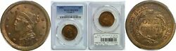 1856 Large Cent Pcgs Ms-65 Rb Upright 5