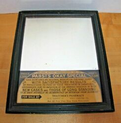 Pabstand039s Okay Specific Std Medicine Old Ad Mirror Sign Thatcherand039s Pharmacy Pa