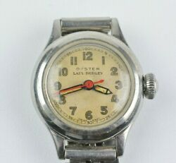 Vintage Rolex Oyster Lady Dudley Small 22mm Watch Manual Movement 1940s - 1950s