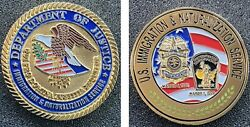 Ins Dept Of Justice Hsi Fbi Ice Dea Cbp Police Military Usms Atf Challenge Coin