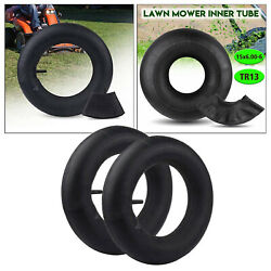 Pair Of 15x6.00-6 Tire Inner Tube Replacement For Tr13 Lawn Mower Golf Carts