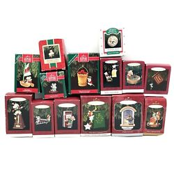 Vintage Hallmark Lot Of 15 Christmas Mouse Ornaments 1980s - 1990s All Mice