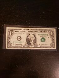 1995 1 Frn Experimental Web Press Note One Dollar U.s. Currency Note