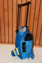 Popatu Jet Airplane Rolling Backpack Suitcase