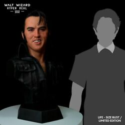 Elvis Presley, Hyper Real Silicone Lifesize Bust , Rare Music Collectable