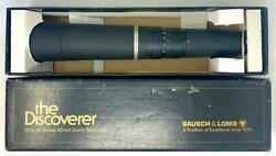 Bausch And Lomb The Discoverer Spotting 60mm Zoom Telescope 78-1600 15 - 60x W/box
