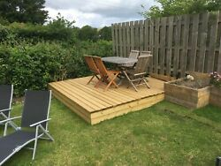 Premium Complete Home-grown Cedar Decking Kit - All Components Included - Deck