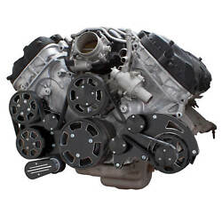 Black Diamond Ford Coyote 5.0 Serpentine System Ac, Power Steering And Alternator