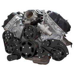 Black Serpentine System For Ford Coyote 5.0 Alternator And Power Steering
