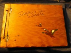 Duck Wildlife Hand Made Old Wooden Carved Vntg. Photo Book W Ducks 25 Pages