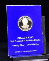 Gerald R. Ford Sterling Silver Token Coin Franklin Mint