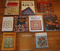 Lot 10 Quilt Books Reference Antique History Guides Quilters Collectors