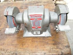 Vintage Wissota E14 Bench Grinder - Works Great - Looks Good - Very Cool Looking