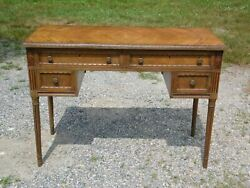 Antique French Louis Xvi Fruitwood Kneehole Writing Desk Dressing Table Vanity
