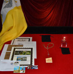 Rare Pope Francis Blessed Rosary With Vatican Coa, Holy Vatican Water, Charity