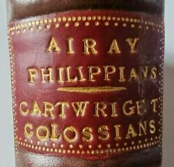 1864 Airay And Cartwright On Colossians And Ephesians / Nichol's Bible Puritans