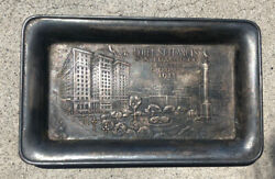 St. Francis Hotel San Francisco 1911 Rare And Ornate - Silver Waiter's Tip Tray