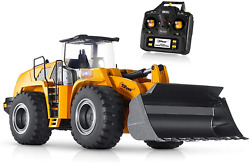 Front Loader Construction Tractor Full Metal Bulldozer Truck Remote Control Kids