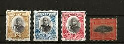 Tonga Y-016 1897 4 Stamps 1d-2d-2.5d-10d All Very Mm / Mh Normal Wmk Up