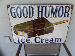 Good Humor Porcelain Ice Cream Sign 18 X 26 Free Priority Shipping In U S