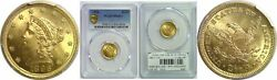 1896 2.50 Gold Coin Pcgs Ms-65+