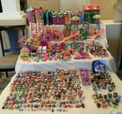 Littlest Pet Shop Hasbro Huge Lot 300 + Pets 24 Playhouses And 270 Accessories