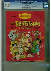 Flinstones Fun Book 11 Cgc 9.8 White Pages 1989 Denny's Promotional Blue Lable