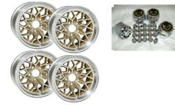 Trans Am New 17x9 Inch Gold Snowflake Wheels, Lug Nuts And Center Caps - Gold Kit
