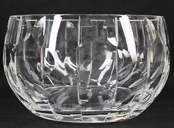Lenox Apollo Collection Cut Crystal 8.75 Diam Large Bowl, 5 1/8 Tall Signed