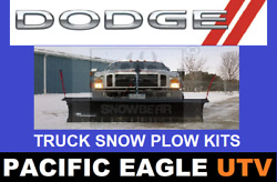 Dodge Truck 84 Winter Wolf Snow Plow Kit With An Actuator Lift System
