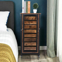 Bedside Table Antique Brown Night Table Sofa Side Tables Standing Cabinet