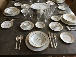 Vintage Rosenthal China Gold Trim 14 + Setting Aprox 120 + Pieces Germany Mint