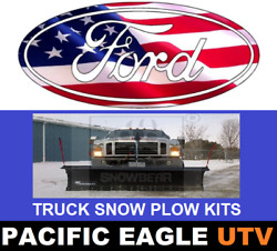 Ford Truck 84 Winter Wolf Snow Plow Kit With An Actuator Lift System