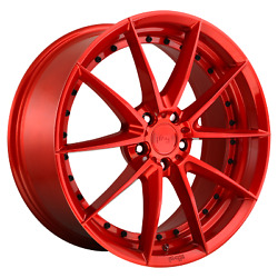20x10.5 4 Wheels Rims Niche 1pc M213 Sector Candy Red +40mm 5x4.5