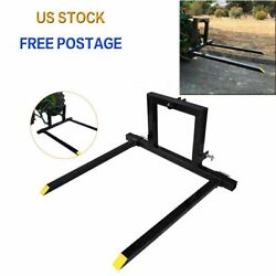 1 Set Adjustable 3 Point Quick Hitch Pallet Fork Category 1 Tractor Carry Forks