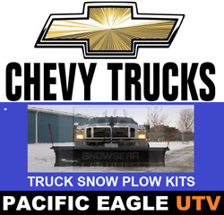 Chevy / Gmc Truck 84 Winter Wolf Snow Plow Kit With An Actuator Lift System