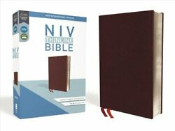 Niv, Thinline Bible, Bonded Leather, Burgundy, Red Letter, Comf... 9780310448792
