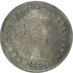1796 DRAPED BUST SMALL EAGLE DOLLAR NGC VERY FINE 20 PROBLEM FREE AND ORIGINAL