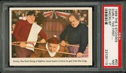 1959 Fleer The 3 Stooges 63 Curly The First... Checklist Psa 7