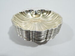 Gorham Nut Dishes - 10a - Set 12 Antique Shell Bowls - American Sterling Silver