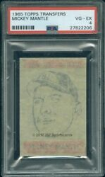 1965 Topps Transfers Mickey Mantle Psa 4 2206