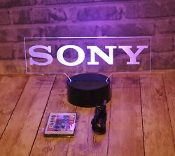 """Sony Led Lighted Sign With 16 Color Base And Remote 9.5"""" X 5"""""""