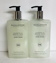 2 Bottles Russell And Windsor Jasmine And White Lily Moisturizing Hand Wash 16.9 Oz