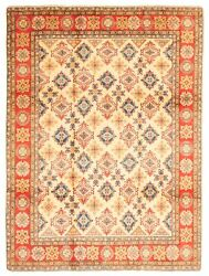 Vintage Geometric Hand-knotted Carpet 9'11 X 13'0 Traditional Wool Area Rug