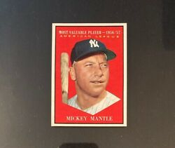 1961 Topps 475 Mickey Mantle Gemmint Pristine 100 Centered Mint+ All Areas