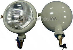 Set Of 2 12v Grey Head Lamp Lights 310066f Fit For Ford 2n 8n 9n 600 800 Naa