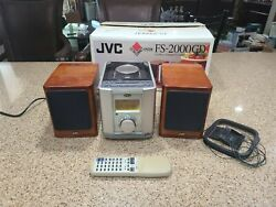 Jvc Fs-2000gd Cd Am/fm Radio Clock Compact Component Audio System Tested Remote