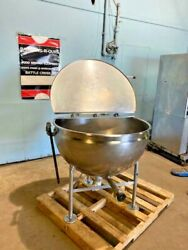 Bh Hubbert And Son Hd Commercial 60gal Direct Steam Jacketed Kettle With Lid