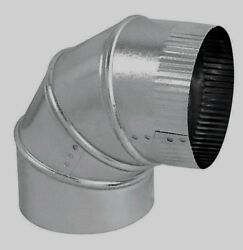 Imperial Manufacturing 6 Furnace Pipe Adjustable Elbow 30 Ga Galvanized Gv0296